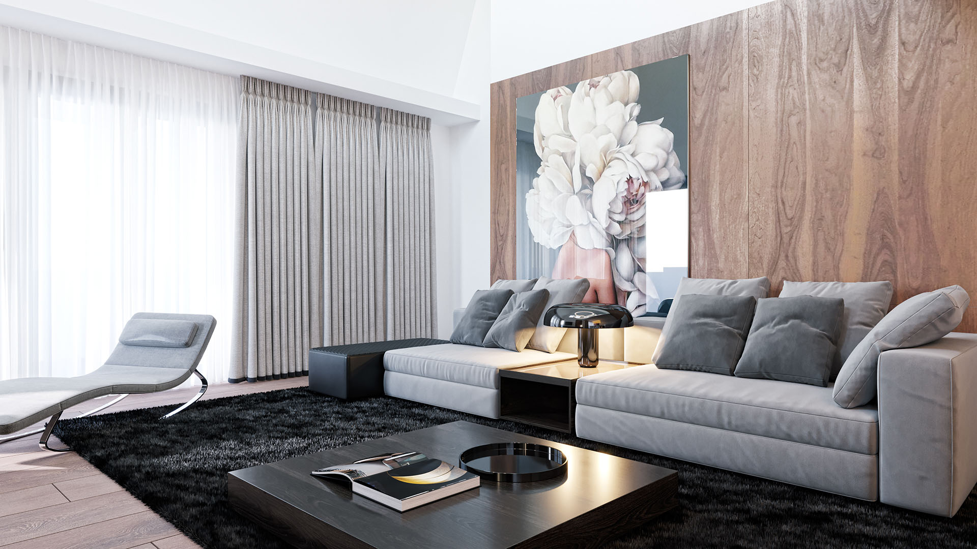 Sunset Lake Homes - propunere amenajare apartament 1