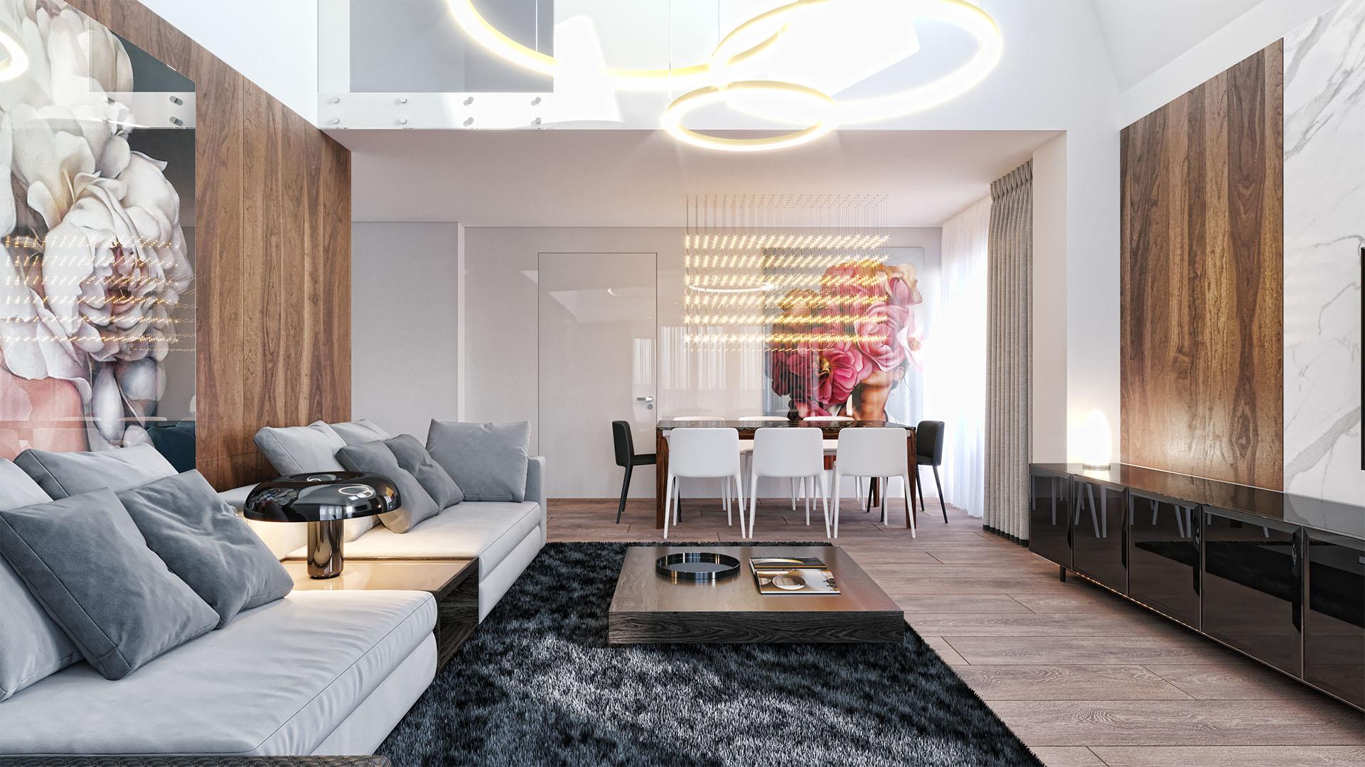 Sunset Lake Homes - propunere amenajare apartament 2