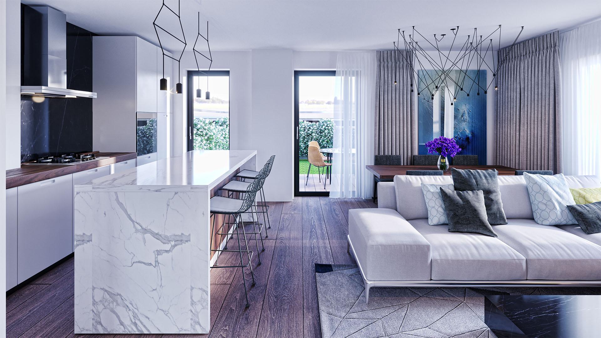 Sunset Lake Homes - propunere amenajare apartament 8